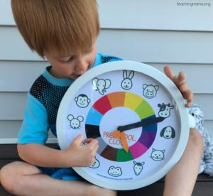 preschool clock from preschool collective