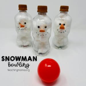 snowman bowling game