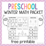 Preschool Winter Math Packet