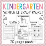Kindergarten Winter Literacy Packet