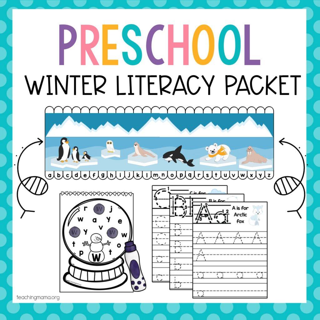 preschool winter literacy