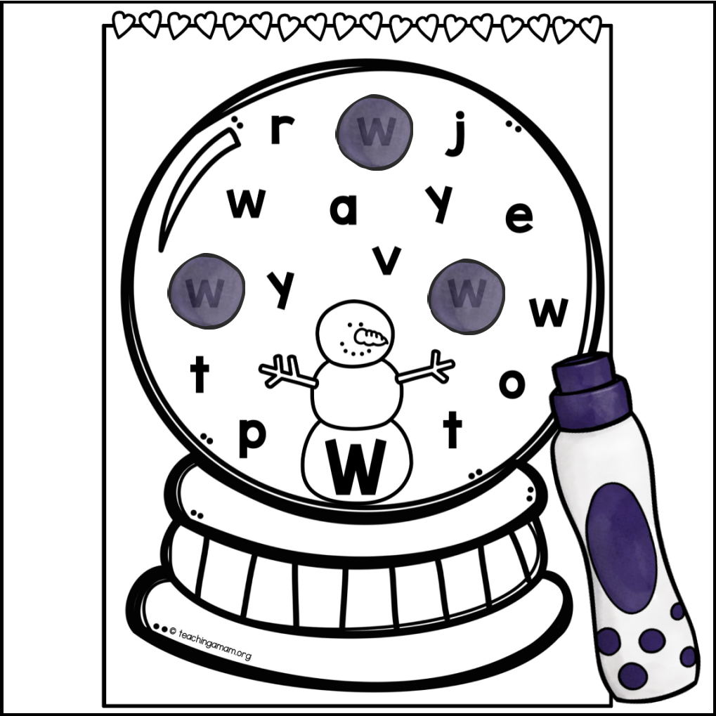 snow globe alphabet