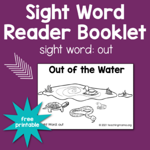 "sight word ""out"" booklet"