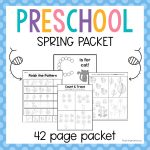 Spring Preschool Packet