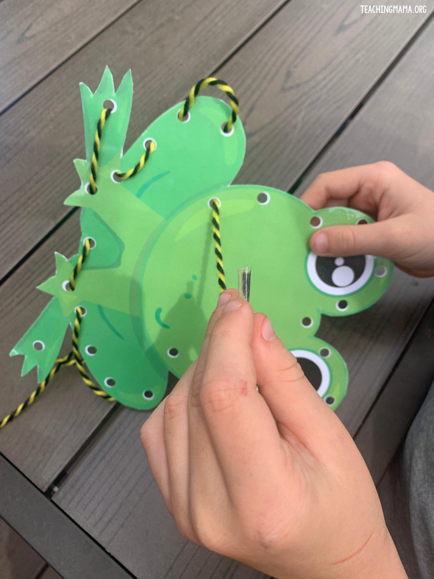 lacing frog card