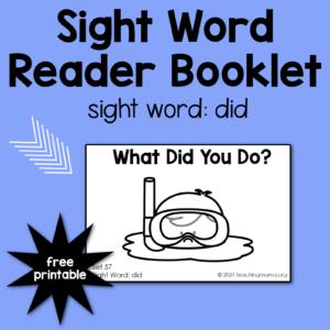 sight word - did