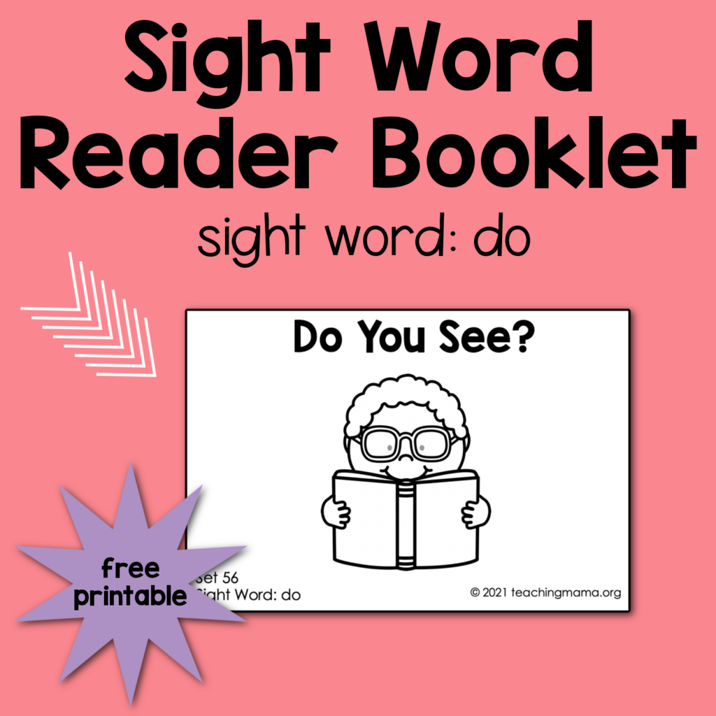 sight word reader for 'do'