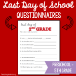 Last Day of School Questionnaire