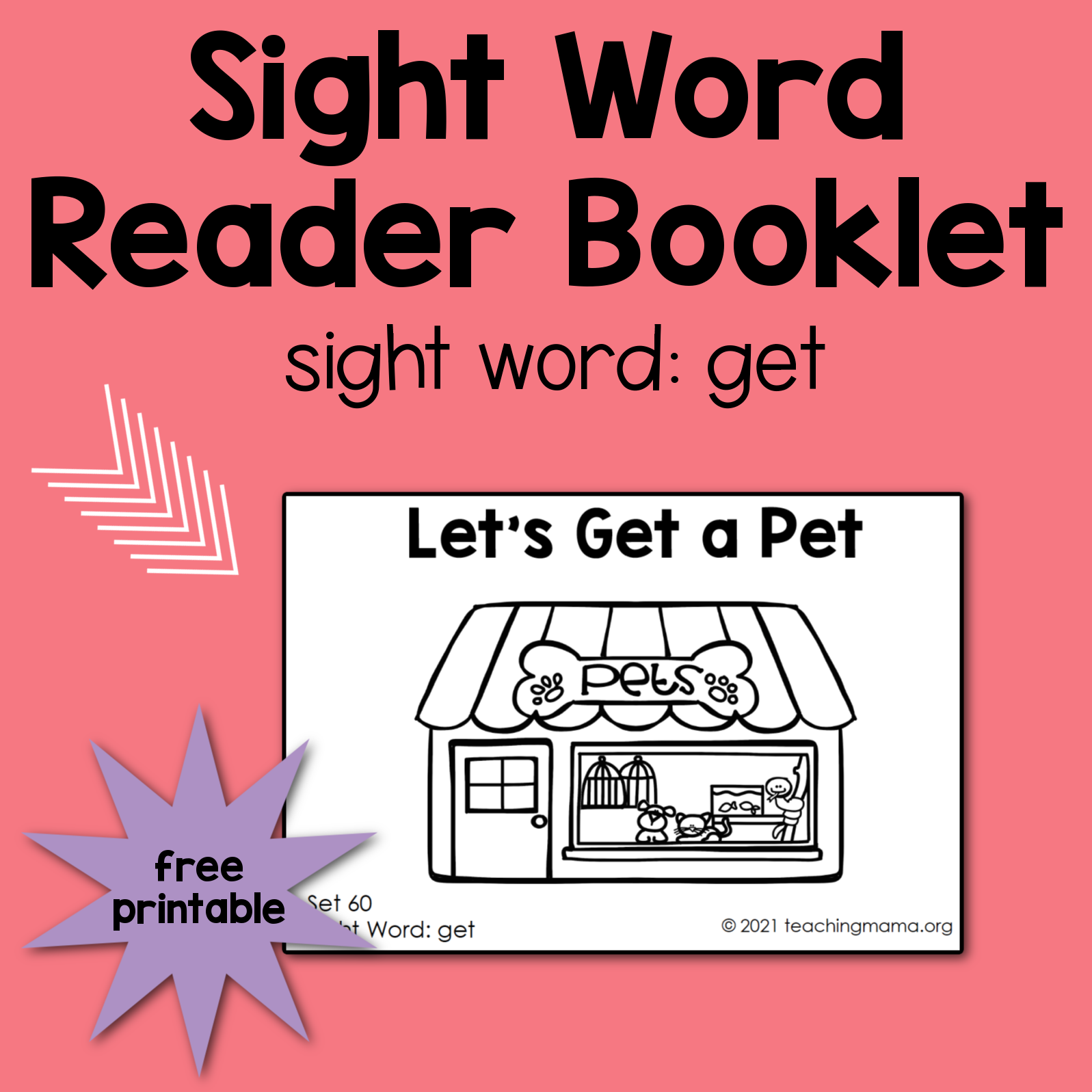 sight word reader for get