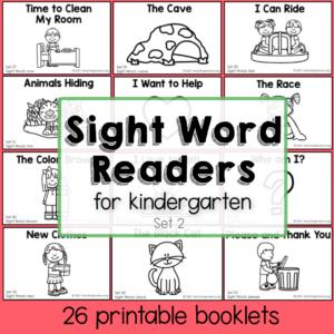 sight words for kindergartners