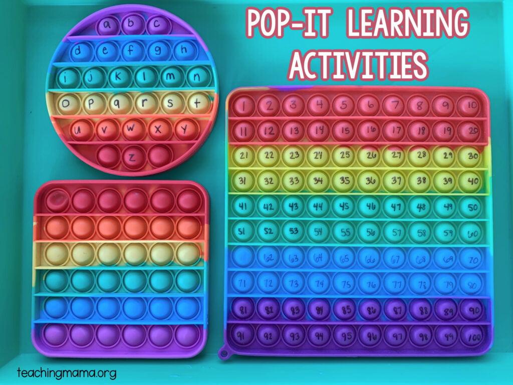 pop it learning activities