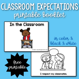 classroom expectations printable booklets