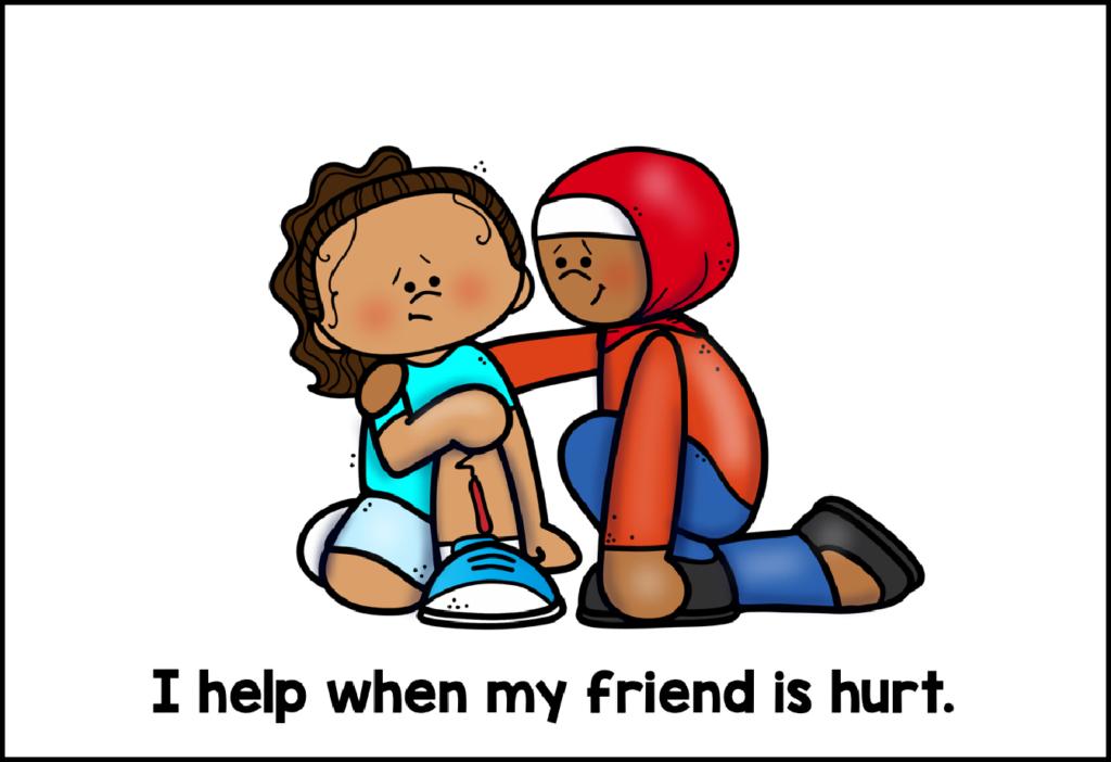 helping friend when hurt