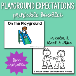 playground expectations printable booklet