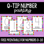 Q-Tip Number Painting Activity