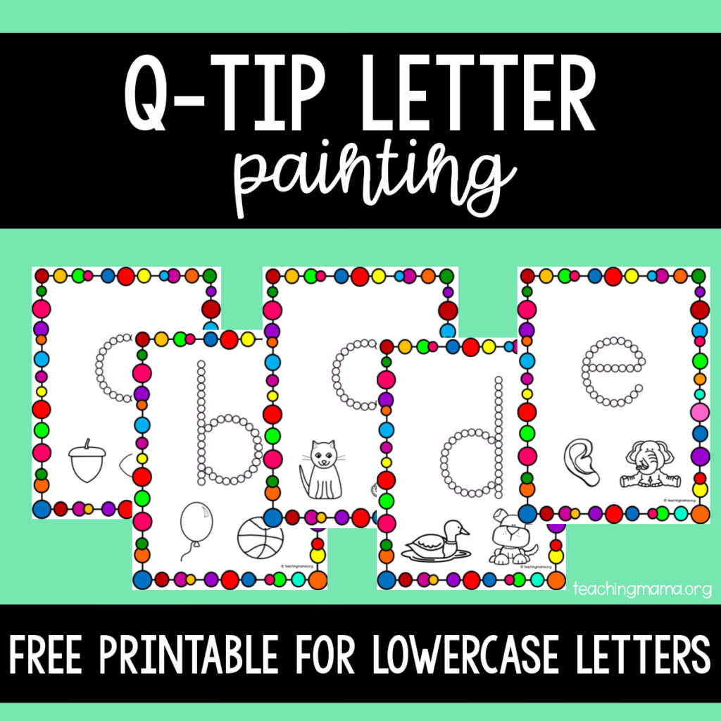 q-tip lowercase painting activity