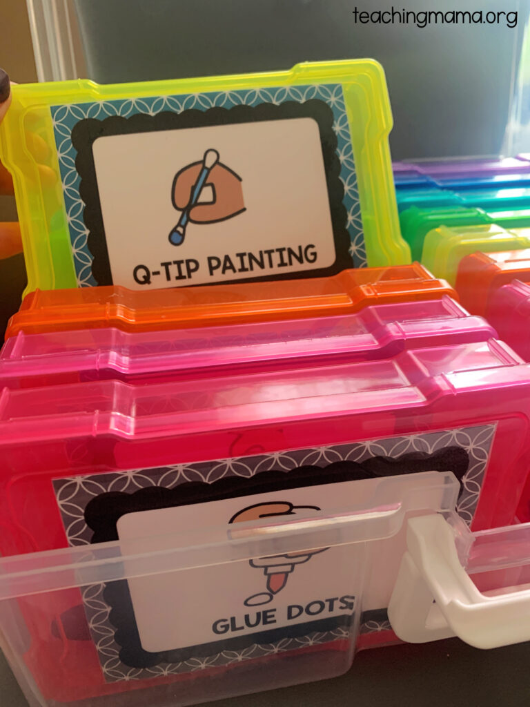 q-tip painting box