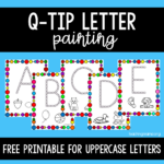 Q-Tip Painting for Uppercase Letters